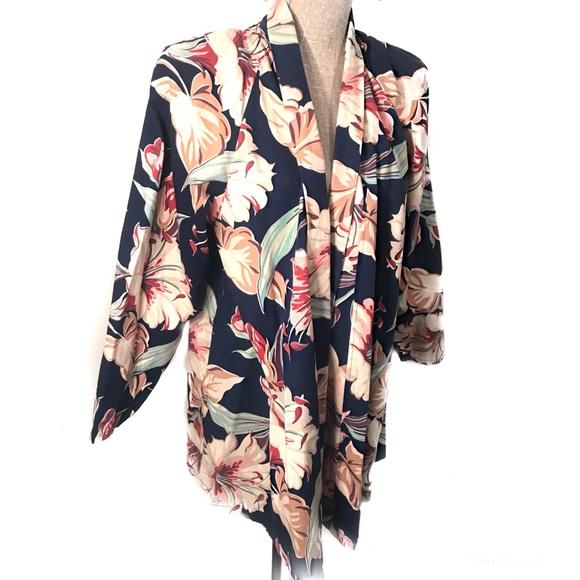 Vintage Jackets & Blazers - Gorgeous vintage floral swing coat